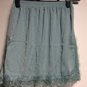 NWOT Light Green Mini Skirt
